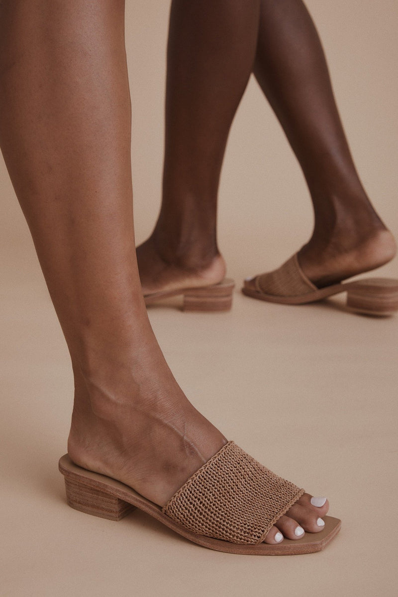 Celina Knitted Sandal - Tan