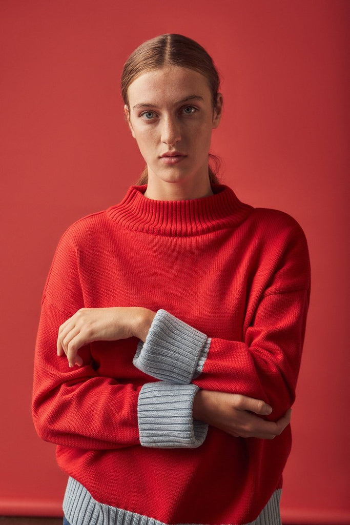 Merino Choreography Jumper - Red