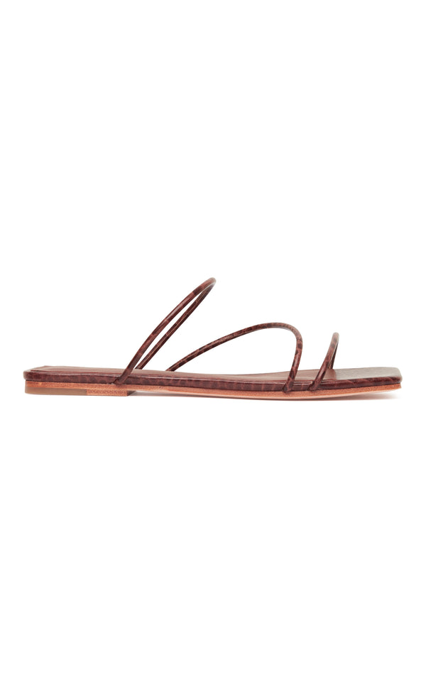 Jackie Crock Flats - Antique Tan