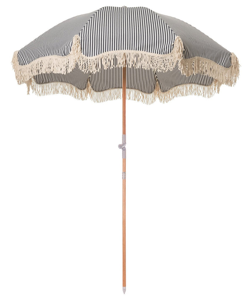 Premium Beach Umbrella - Laurens Navy Stripe
