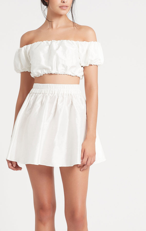Valetta Mini Skirt - Ivory