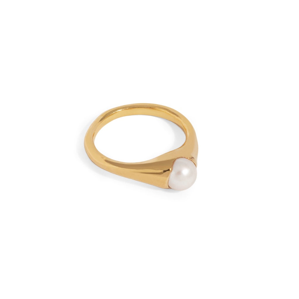 Bloom Ring with Pearl - 9ct Gold