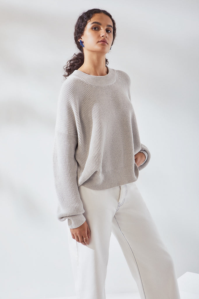 Workroom Jumper - Grey Marle