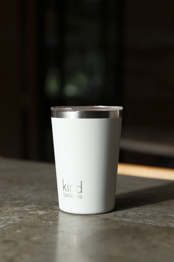 Kind Curations 12oz Insulated Coffee Cup - Bone White