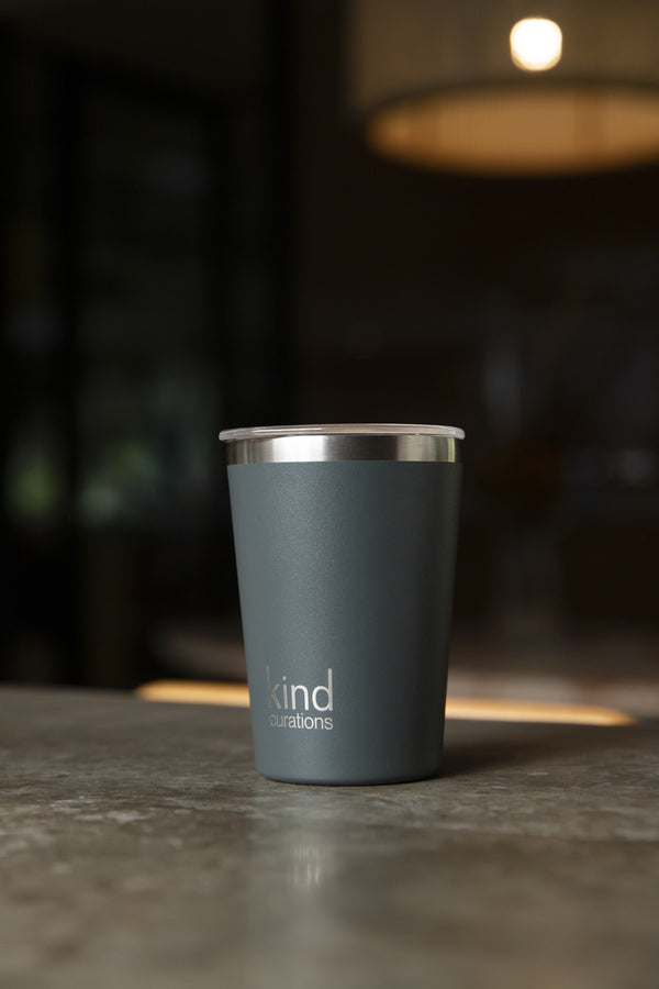 Kind Curations 12oz  Insulated Coffee Cup - BBQ Charcoal