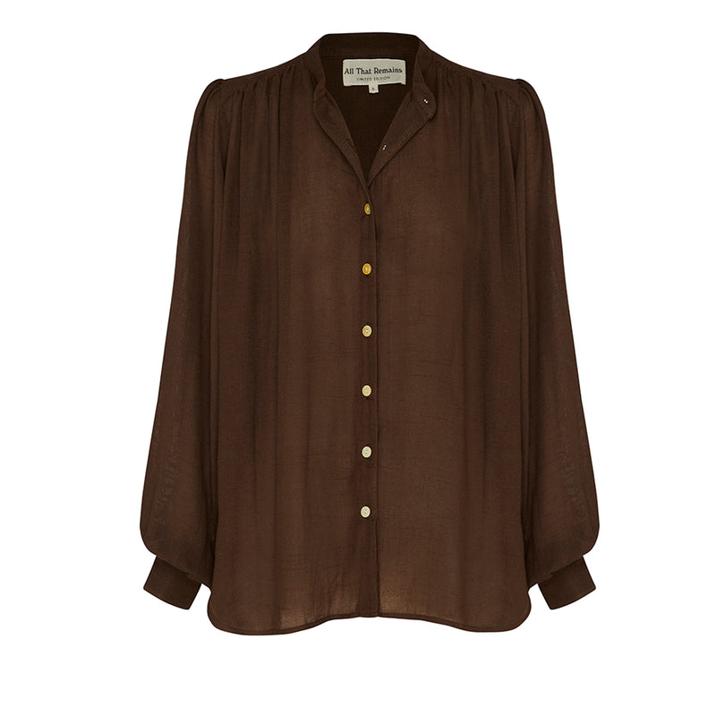 Edie Shirt- Chocolate