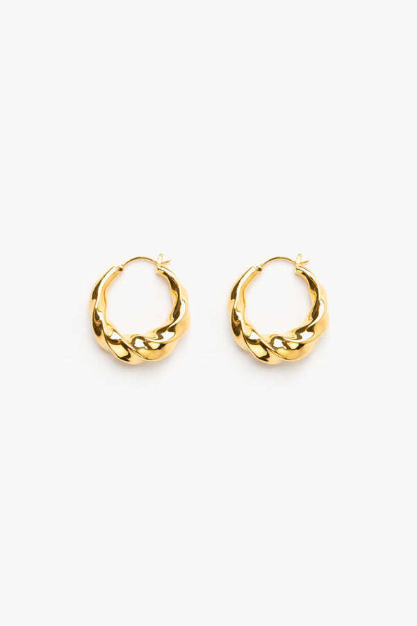 Twisted Hoops - 14k Vermeil