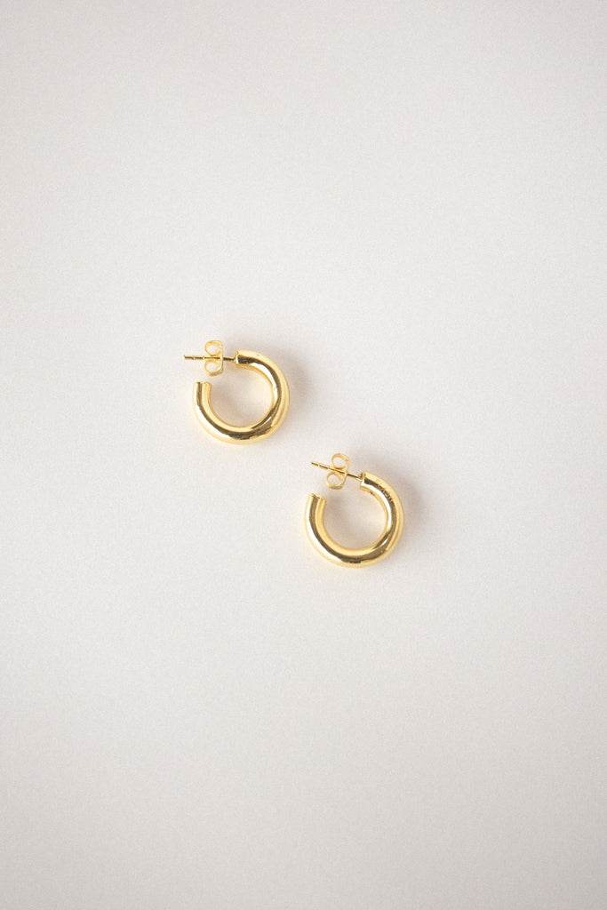Goldie Hoops - 18k Gold Plated Brass
