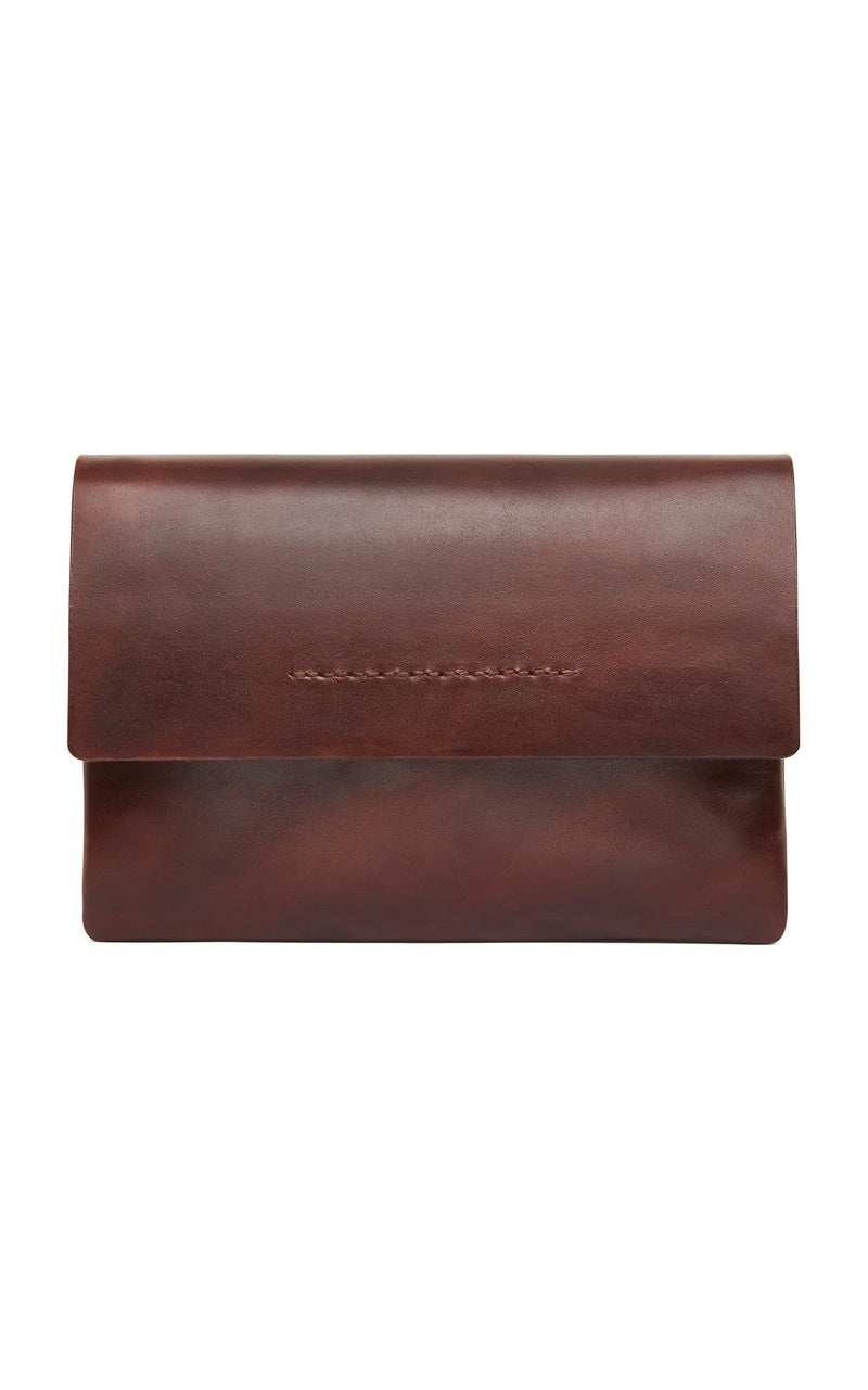 Aren Clutch - Antique Tan