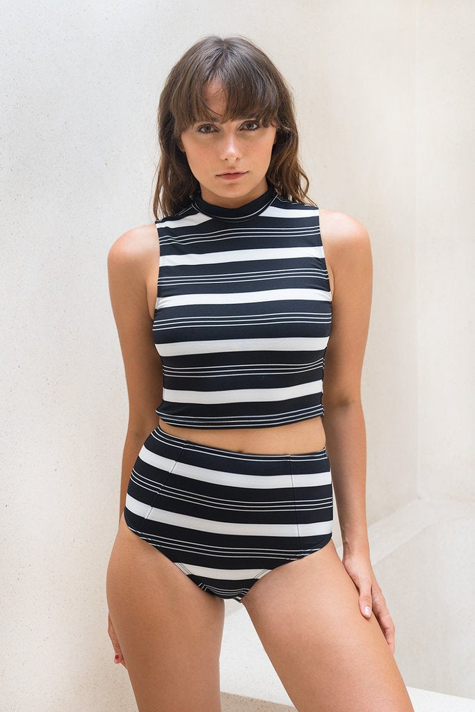 Talalla Top - B/W Stripe