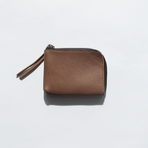 Hiro Zip Wallet - Tan