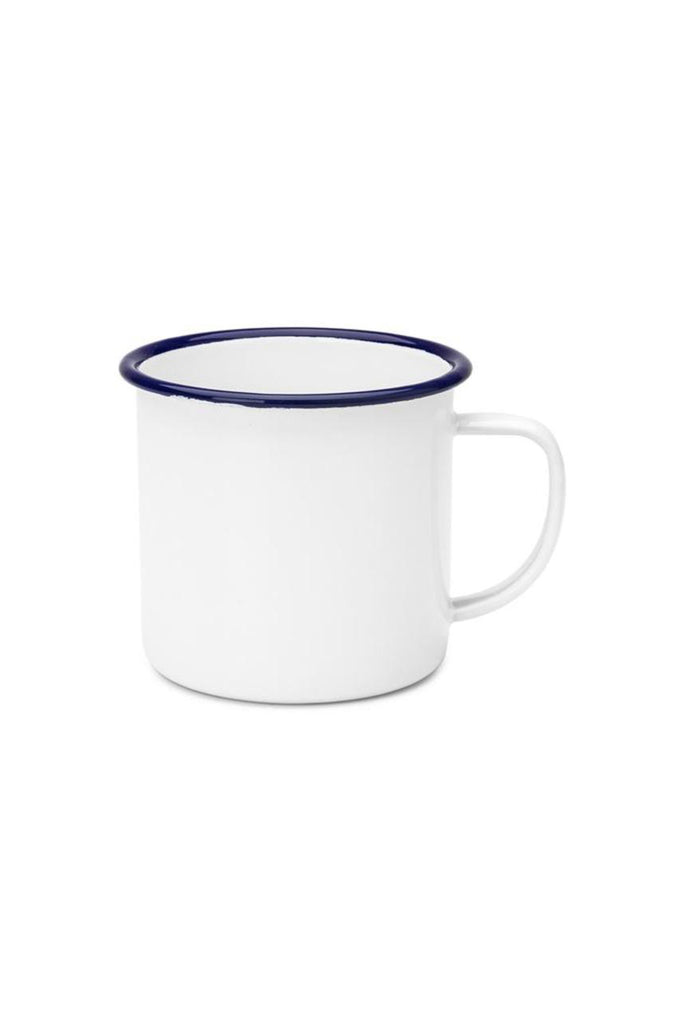Enamel Mug 350ml - White/Blue