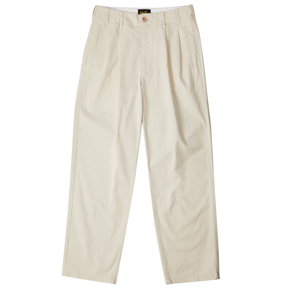 Mens Pleated Pant - Khaki Twill