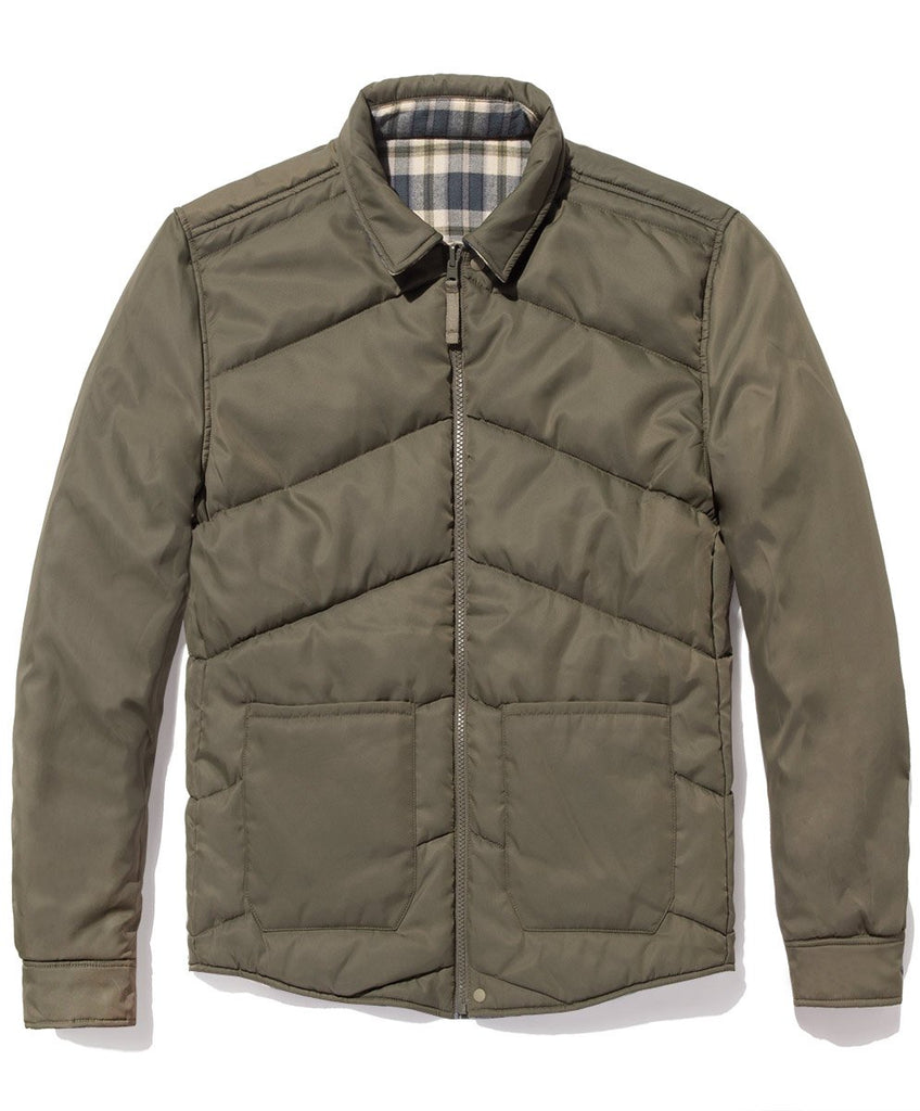 Evolution Reversible Puffer Jacket - Olive