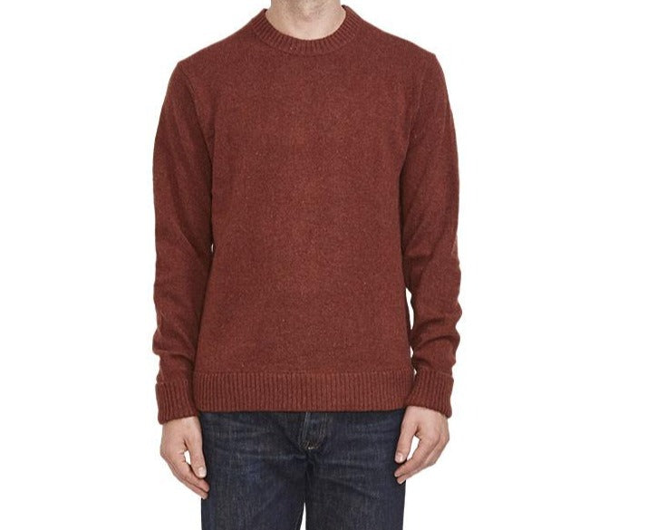 M's Recycled Wool Sweater - Sisu Brown