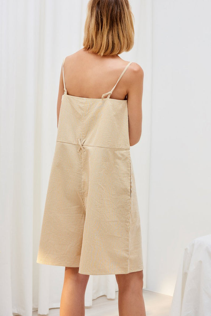 Insight Jumpsuit - Mustard Stripe