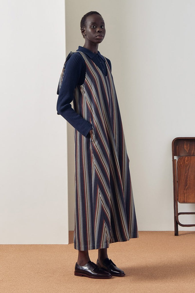 Knotted Tie Dress - Stripe