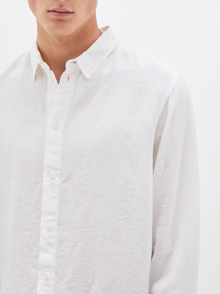 Linen LS Shirt - White