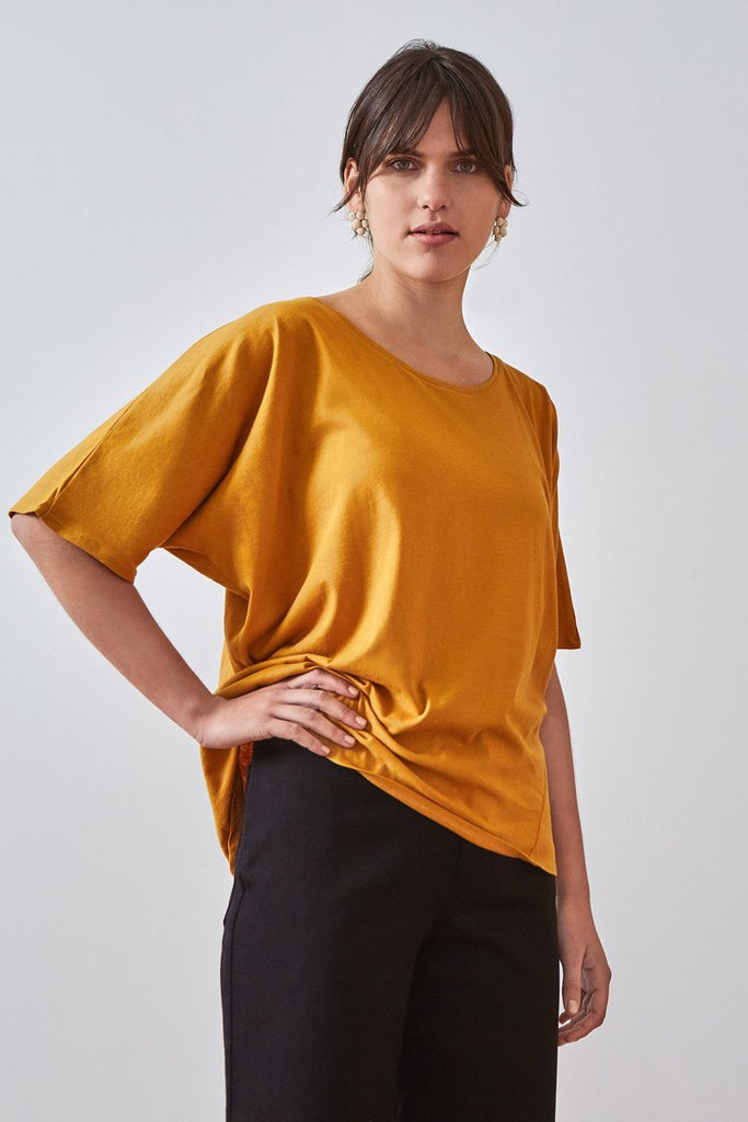 Building Block Loose Fit Tee - Amber