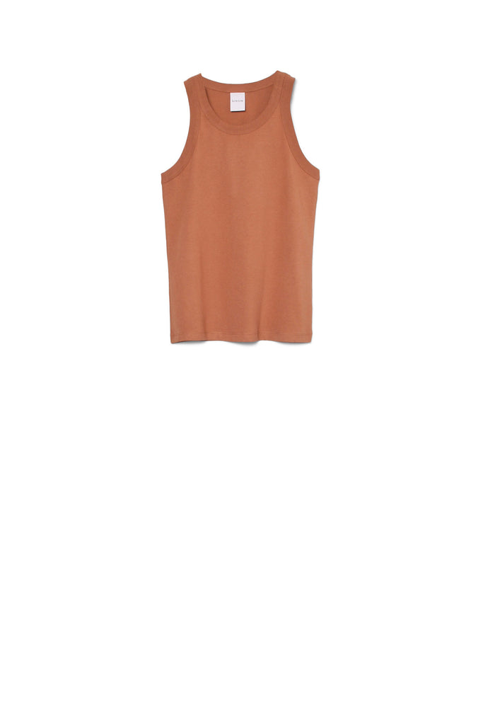 Racer Back Singlet - Clay