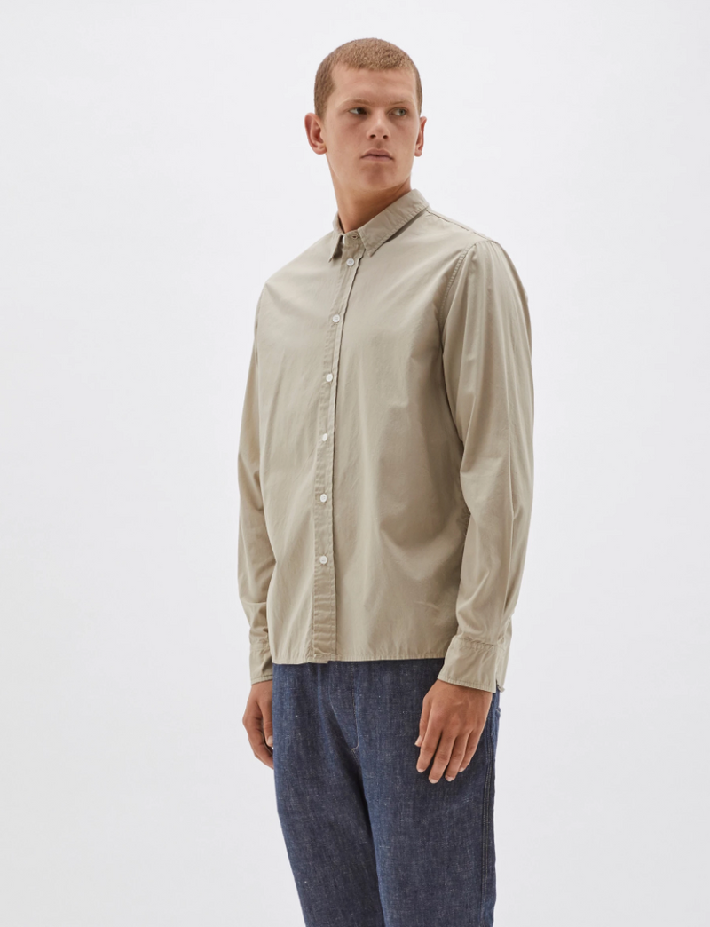 Washed casual shirt - sand
