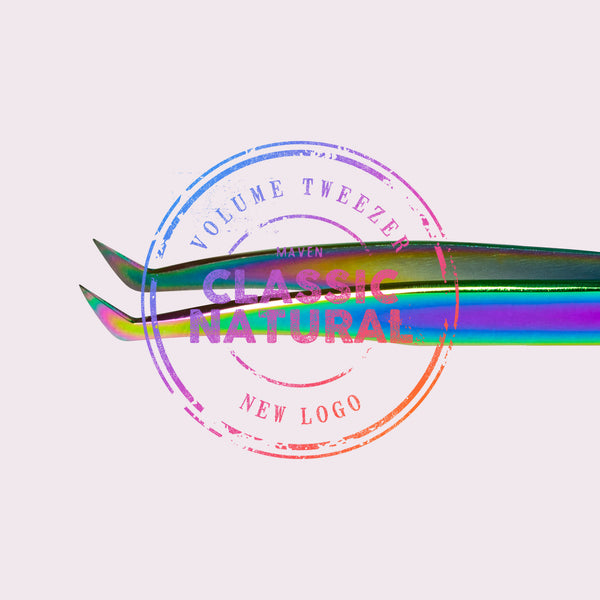 Natural Volume - Kaleidoscope Boot Tweezer (New Logo)