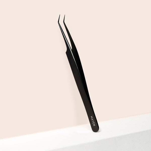 Carbon Black - Curved Precision Tweezer