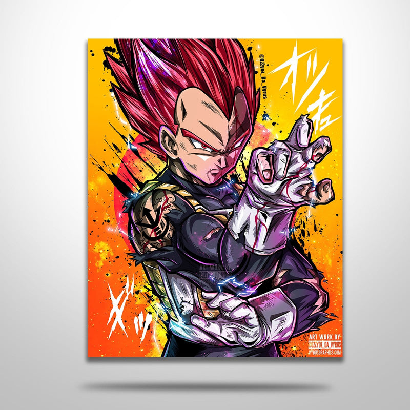 Vegeta SS God Red Poster