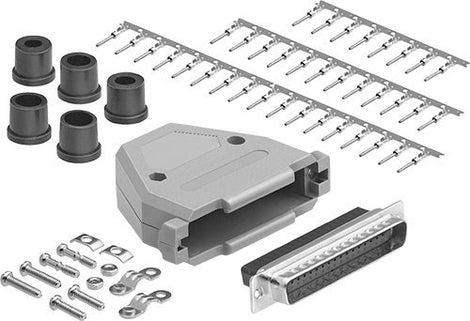 DB37 Male Connector Kit Set