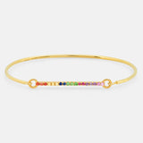 The Amalfi Wire Rainbow Bracelet