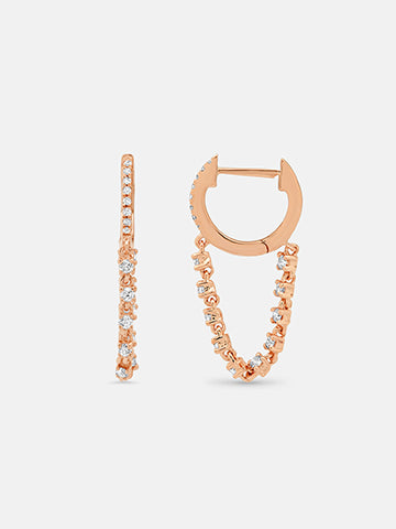 The Zurich Huggie Chain Earrings