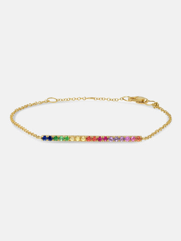 The Amalfi Chain Rainbow Bracelet