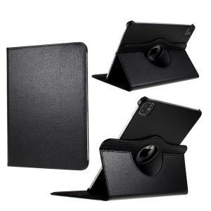 Litchi Skin Leather Case with Rotating Stand for iPad Pro 11-inch (2020) - Black