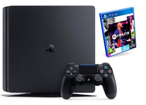 PS4 SLIM 500GB + 1 Pad+ FIFA 21