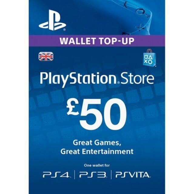 Playstation Network Card £50 (PS3/Vita/PS4) / PS3