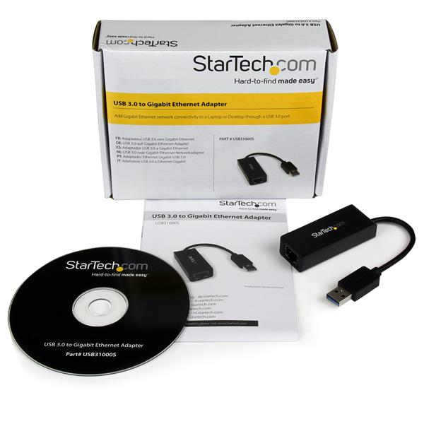 STARTECH USB 3.0 TO GIGABIT ETHERNET NETWORK ADAPTER