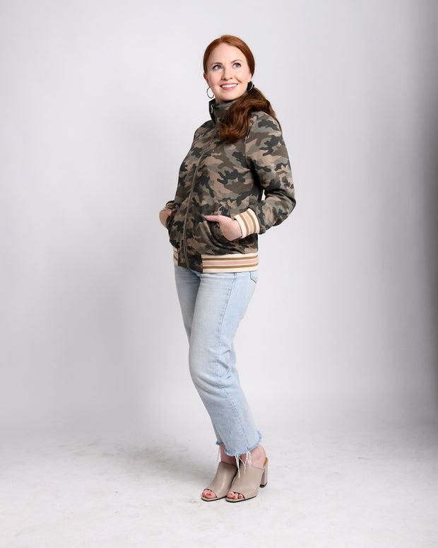 Always in Style - Camo Bomber Jacket