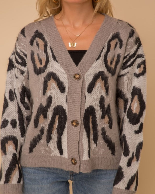 Feeling Wild - Animal Print Cardigan