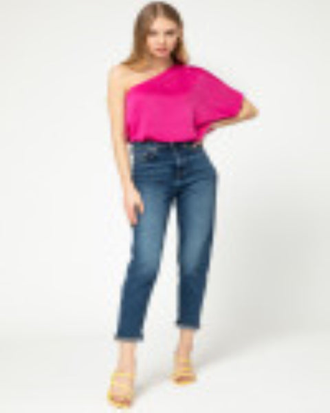 Seeing Pink - One Shoulder Top