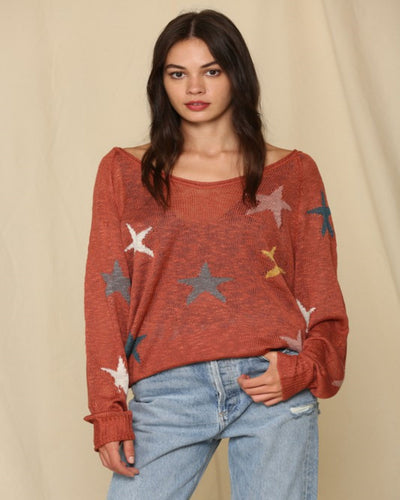 Fall Magic - Rust Star Sweater