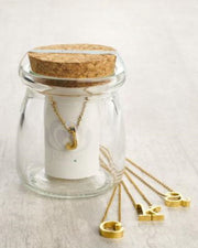 Spice Initial Necklace in a Jar