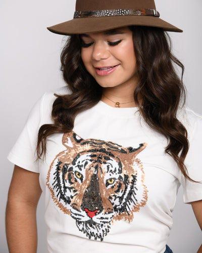 Eye of the Tiger Sequin Tee