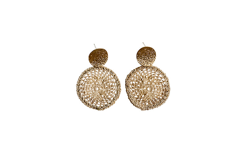 Bismark Basket Earrings Gold