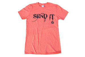 "Heather Orange ""Send It"" Short Sleeve"