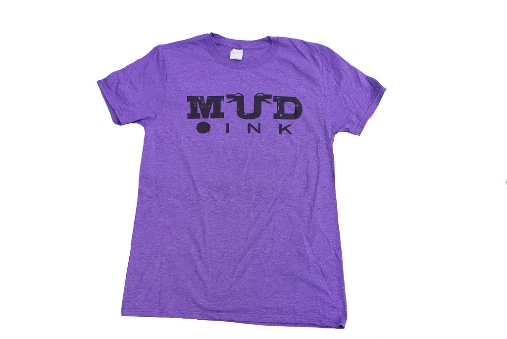 Heather Purple Handle Bar Design Short Sleeve