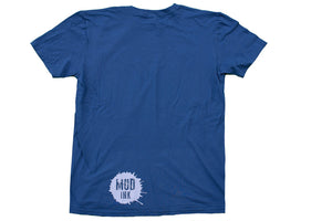 Indigo Blue Handle Bar Design Short Sleeve