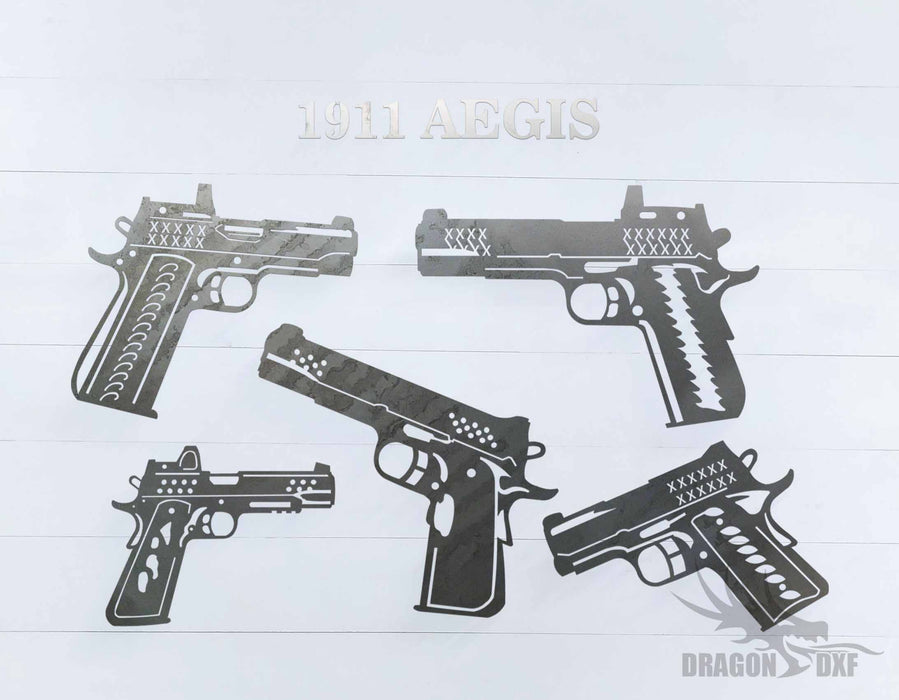 1911 Aegis Pistol Design Package  - DXF Download