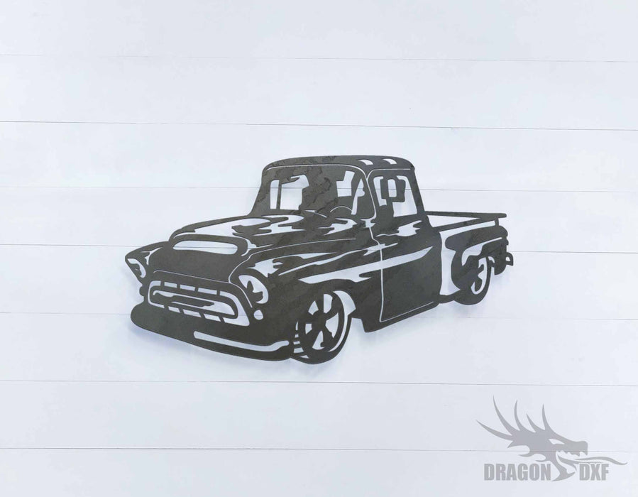 1957 chevrolet pickup truck 1 - DXF Download