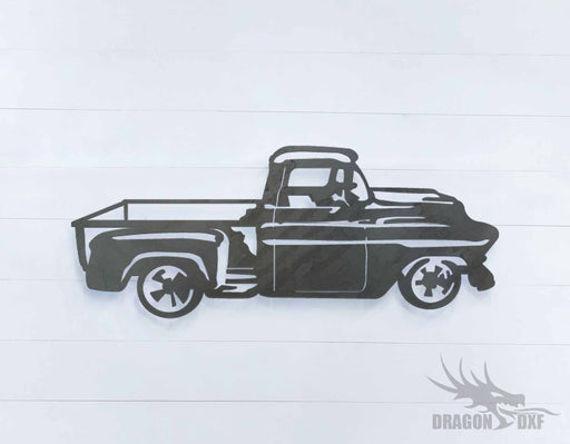 1957 chevrolet pickup truck 3 - DXF Download