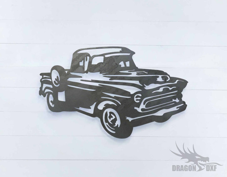 1957 chevrolet pickup truck 4 - DXF Download